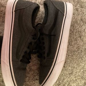 grey and black vans